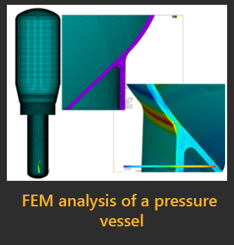 FEM analysis of a pressure vessel